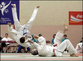 Judo Kata, Note the Red and White Belt, mark of a 6th or higher Dan Rank