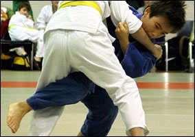 O-Uchi, Kids Judo Throw at a Tournament